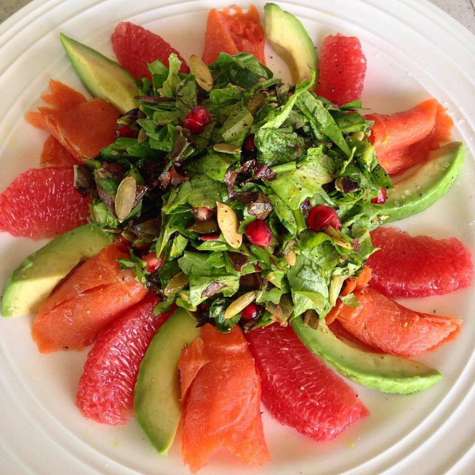 Smoked Salmon Salad Recipes Healthy  Healthy Busy Mom Grapefruit Avocado and Smoked Salmon