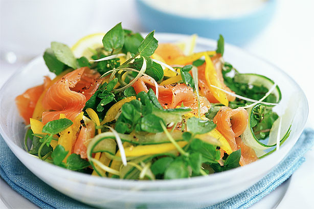 Smoked Salmon Salad Recipes Healthy  Smoked salmon salad with Dijon honey dressing recipe