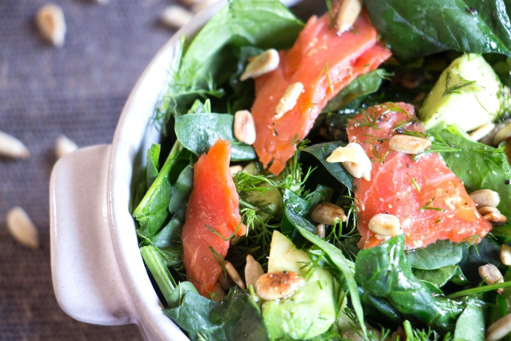 Smoked Salmon Salad Recipes Healthy  Smoked Salmon and Avocado Salad Recipe from Pescetarian