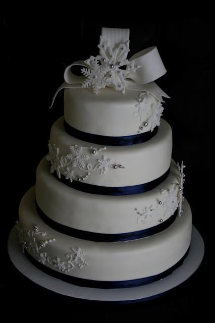Snow Flake Wedding Cakes  Cakes by Jyl Snowflake Wedding Cake & Snowflake Cupcakes