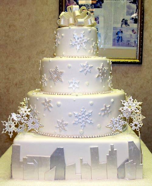 Snow Flake Wedding Cakes  Snowflake Wedding Cake Designs