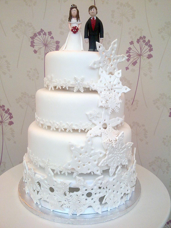 Snow Flake Wedding Cakes  Snowflake Wedding Cake Wedding Cake Cake Ideas