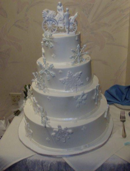 Snow Flake Wedding Cakes  Winter Wedding Cakes Elegant Wedding Cakes