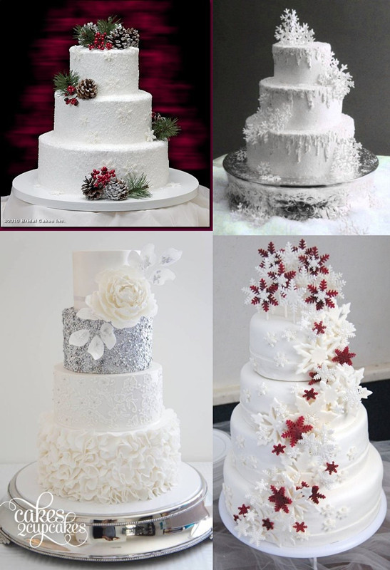 Snow Flake Wedding Cakes  30 Winter Wedding Ideas for the Perfect Winter Weddings