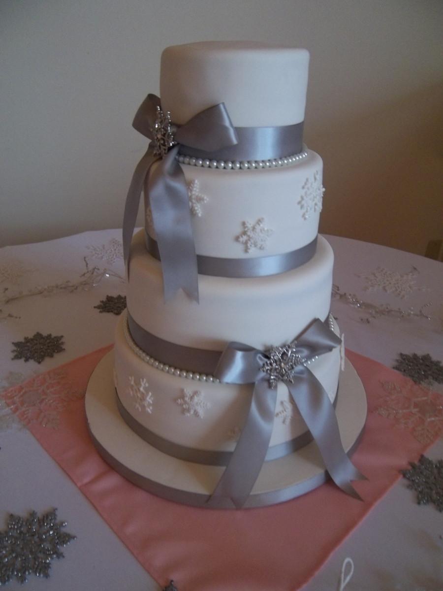 Snow Flake Wedding Cakes  Snowflake Wedding Cake CakeCentral
