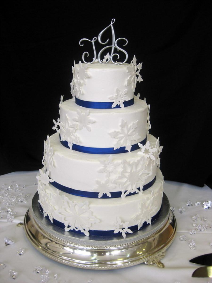 Snow Flake Wedding Cakes  Jones Winter Wedding Cake CakeCentral