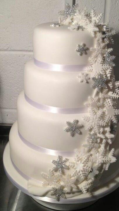 Snow Flake Wedding Cakes  wedding