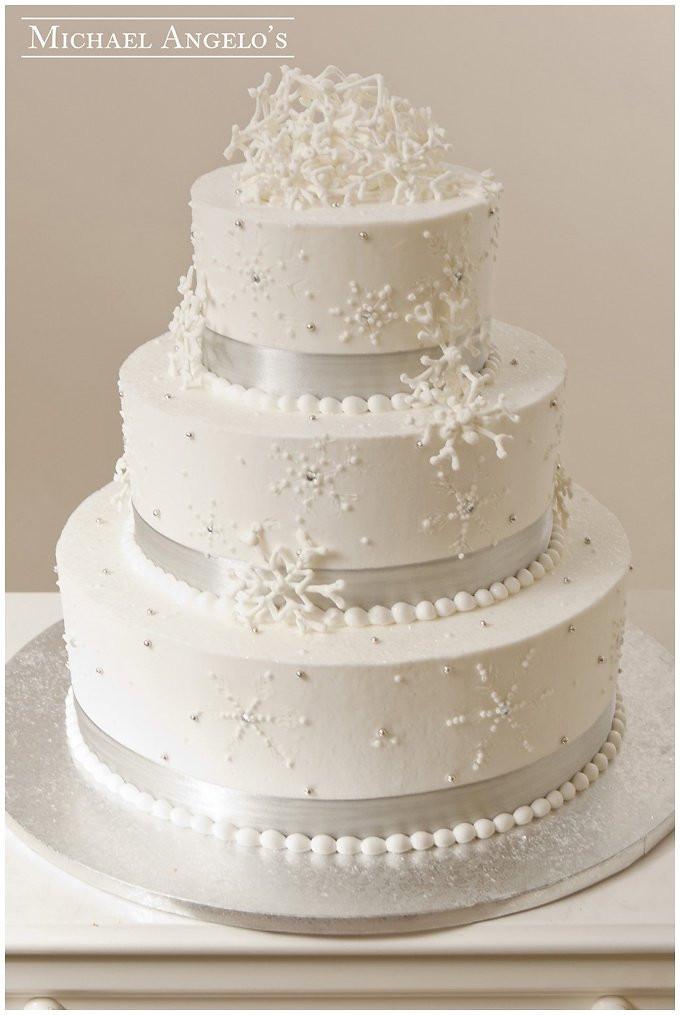 Snow Flake Wedding Cakes  Our Favorite Winter Wedding Cakes Wedding Inspiration