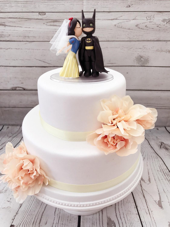 Snow White Wedding Cake Topper  Snow White and Batman Cake Topper Wedding Cake Topper Snow