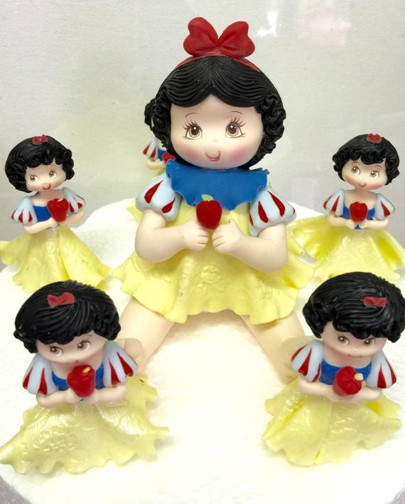 Snow White Wedding Cake Topper  Snow White birthday cake topper and matching by MimosasDesigns