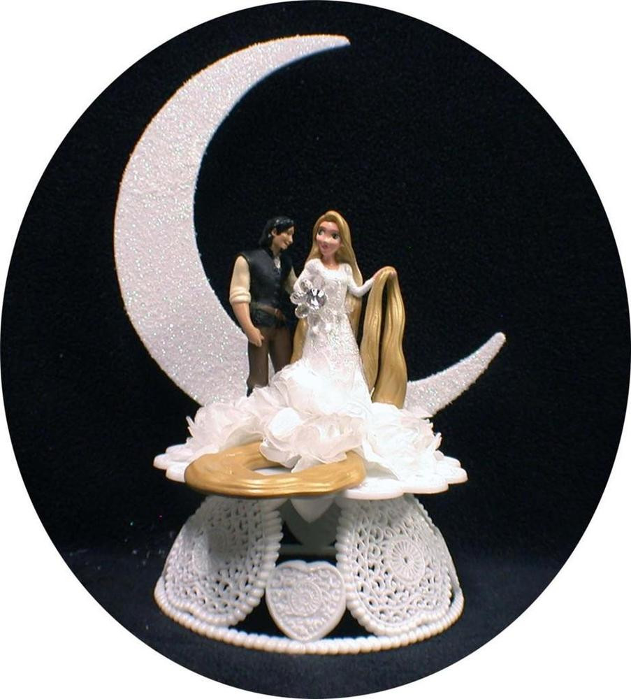 Snow White Wedding Cake Topper  Rapunzel from Disney Tangled Prince Charming Wedding Cake
