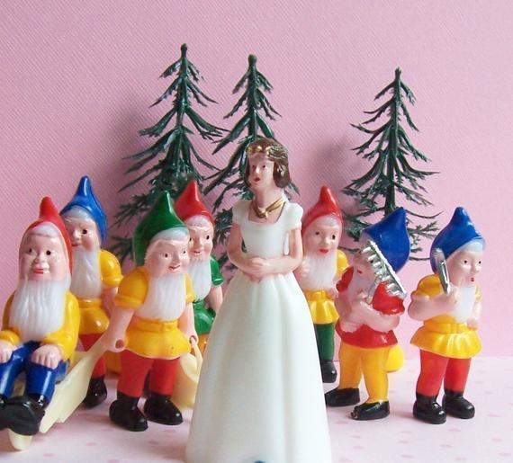 Snow White Wedding Cake Topper  RESERVED for TrashDisco Snow White Cake Topper Set