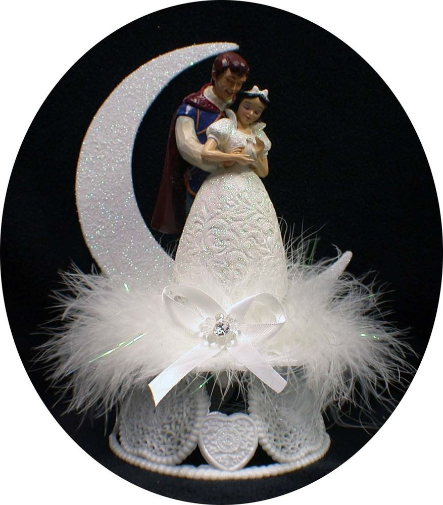 Snow White Wedding Cake Toppers  Disney Princess SNOW WHITE Prince Charming Wedding Cake