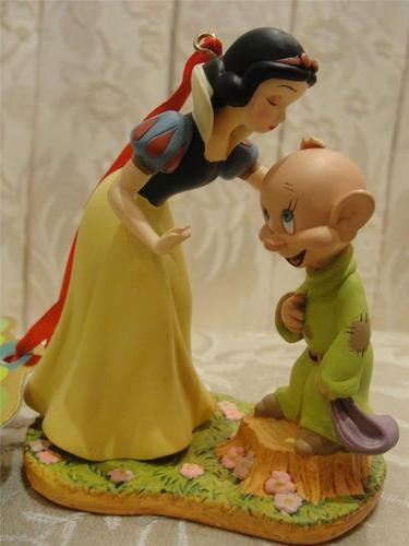 Snow White Wedding Cake Toppers  Snow White and Dopey Cake Topper Figurine OR Ornament