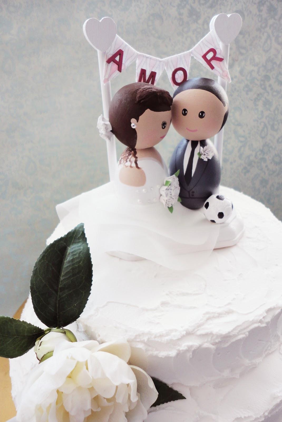 Soccer Wedding Cakes  DSMeeBee Soccer Wedding Cake Topper with a Custom AMOR