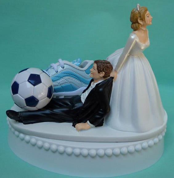 Soccer Wedding Cakes  Soccer Wedding Cake Topper Inspiration for the Futbol