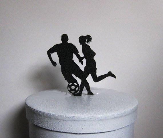 Soccer Wedding Cakes  Wedding Cake Topper Soccer Football Soccer by Plasticsmith