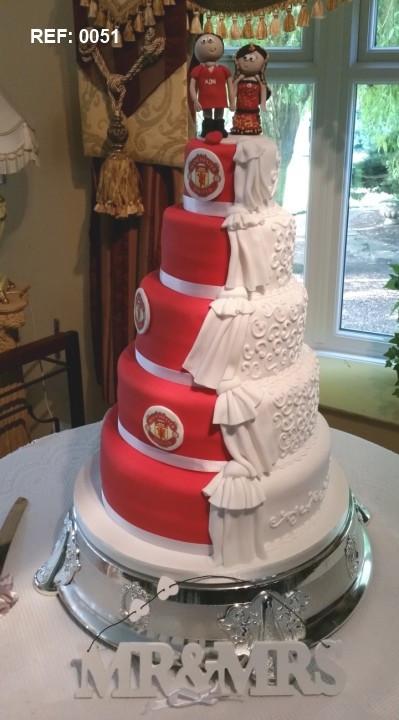 Soccer Wedding Cakes  Football half and half Wedding Cakes