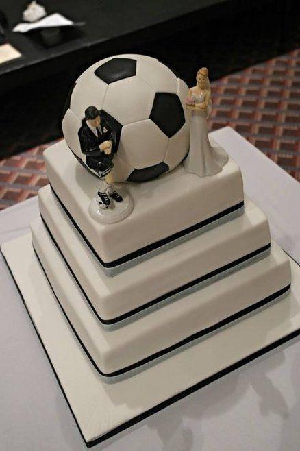 Soccer Wedding Cakes  Soccer Party on Pinterest