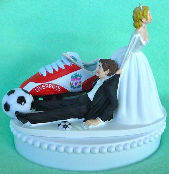 Soccer Wedding Cakes  Wedding Cake Topper Liverpool F C Football Club Soccer Themed