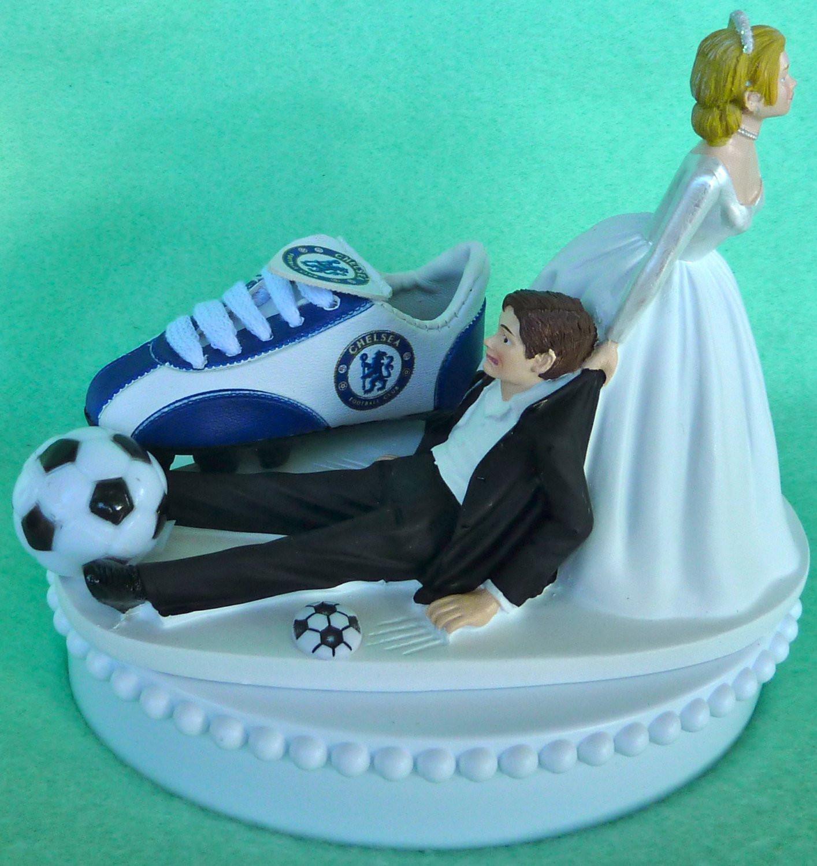 Soccer Wedding Cakes  Wedding Cake Topper Chelsea Football Club FC Soccer Themed