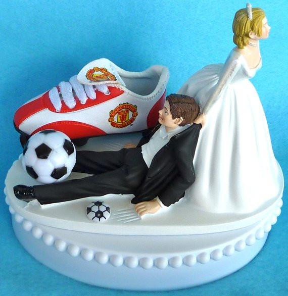 Soccer Wedding Cakes  Wedding Cake Topper Manchester United Man U Soccer Themed w