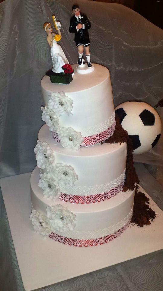 Soccer Wedding Cakes  Football wedding cake cake by Tirki CakesDecor