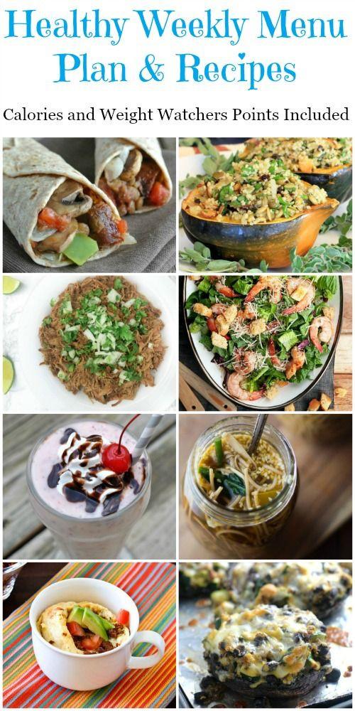 Something Healthy To Eat For Breakfast  Healthy Weekly Menu Plan Recipes Week 1