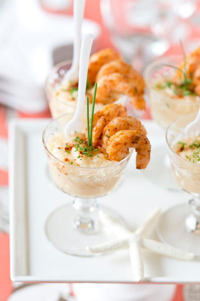 Southern Appetizers For Wedding  Mini Shrimp and Grits