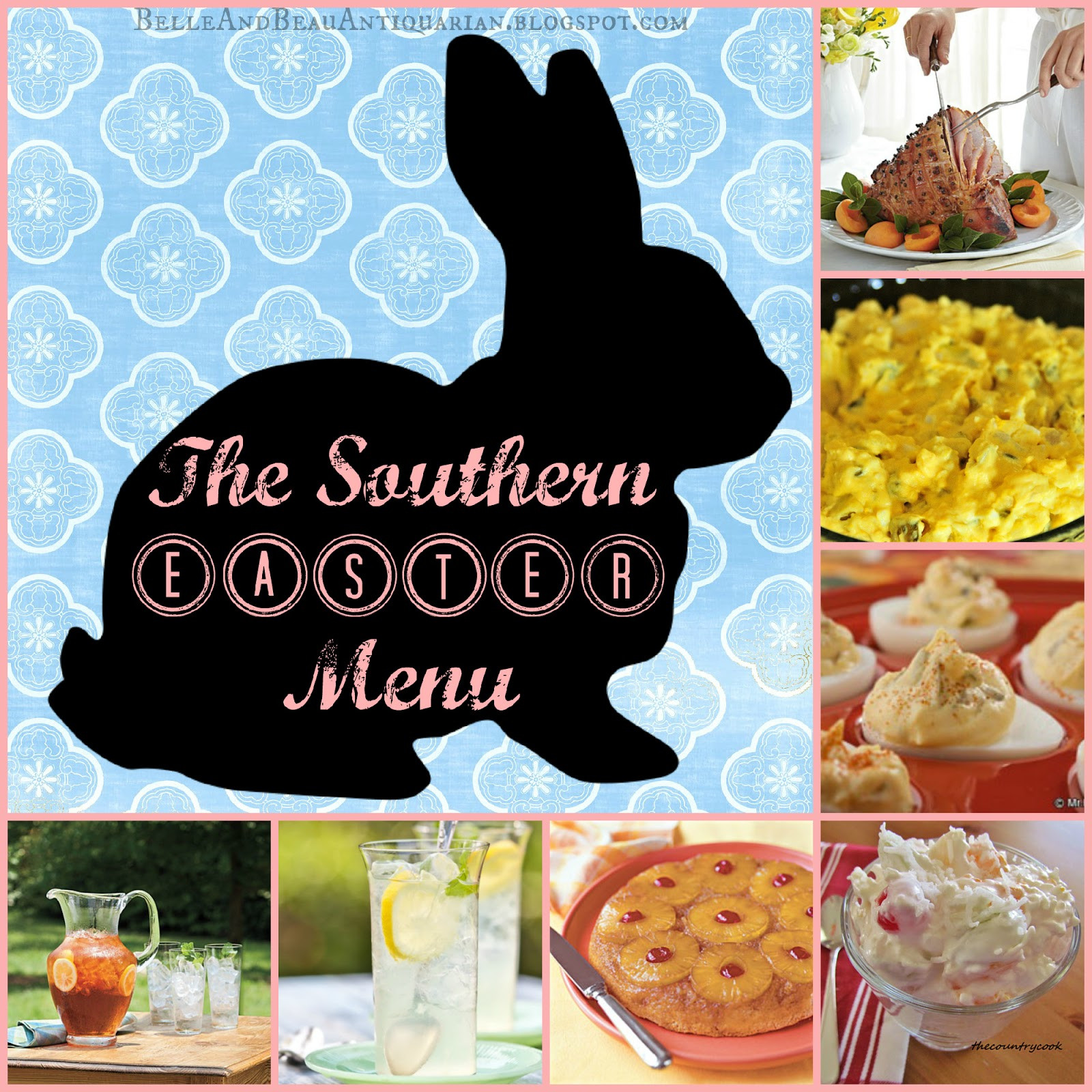 Southern Easter Dinner Menu  Belle & Beau Antiquarian The Southern Easter Menu