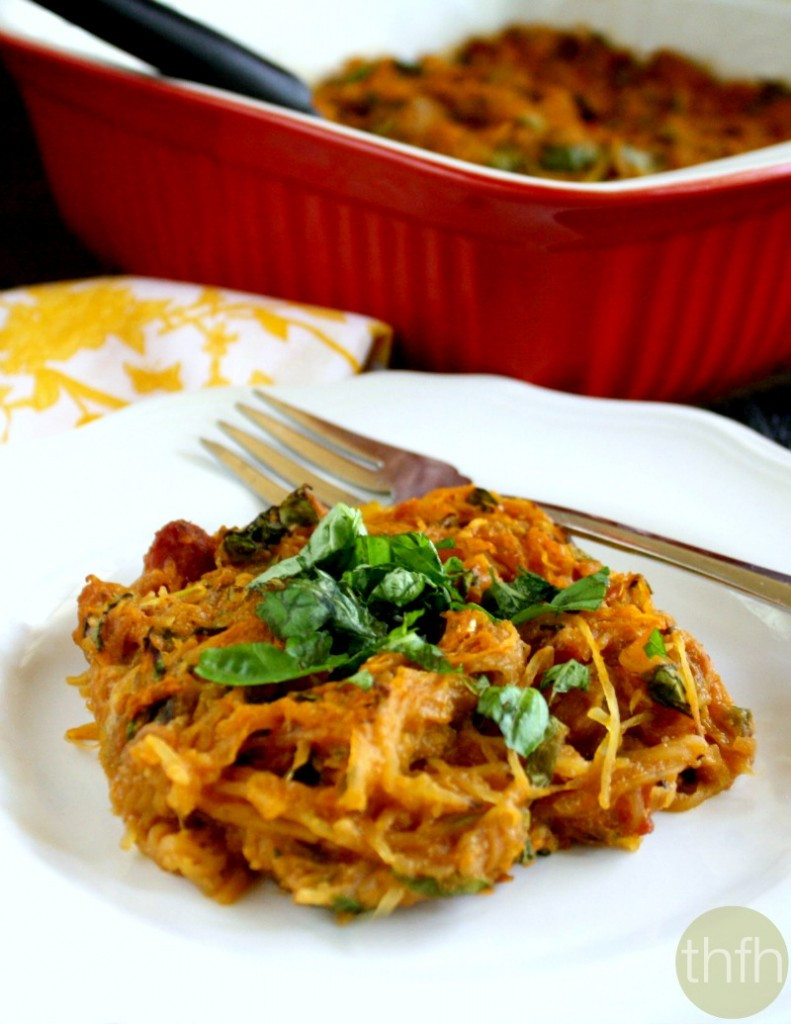 Spaghetti Squash Healthy  Vegan Italian Spaghetti Squash Bake