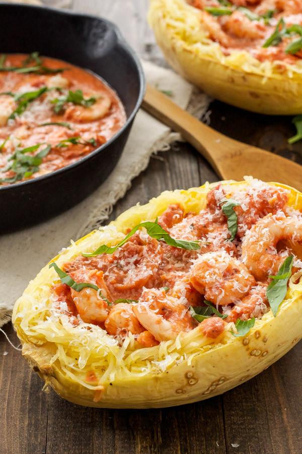Spaghetti Squash Recipes Healthy  Green Chile Chicken Enchilada Stuffed Spaghetti Squash