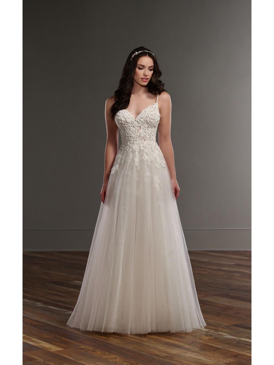 Spaghetti Strap A Line Wedding Dress  A Line Spaghetti Straps Lace Wedding Dresses Bridal Gowns