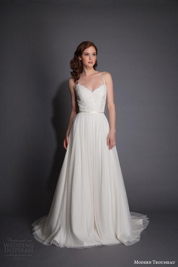 Spaghetti Strap A Line Wedding Dress  Top 100 Most Popular Wedding Dresses in 2015 Part 1 — Ball