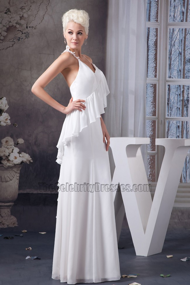 Spaghetti Strap Backless Wedding Dress  y Spaghetti Straps Backless Informal Wedding Dress