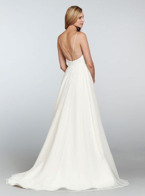 Spaghetti Strap Backless Wedding Dress  20 Spaghetti Strap Backless Wedding Gowns Weddingomania