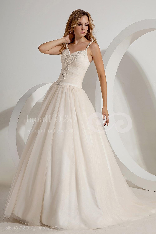 Spaghetti Strap Ball Gown Wedding Dress  ball gown wedding dresses with spaghetti straps Naf Dresses