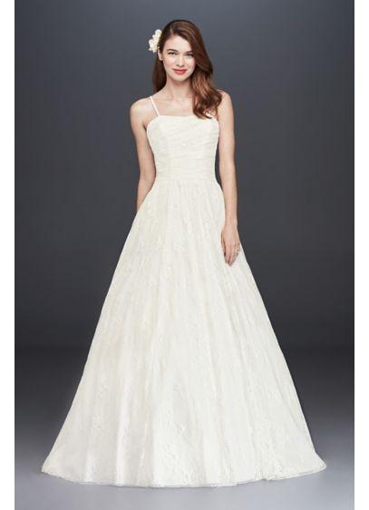 Spaghetti Strap Ball Gown Wedding Dress  Spaghetti Strap Allover Lace Ball Gown