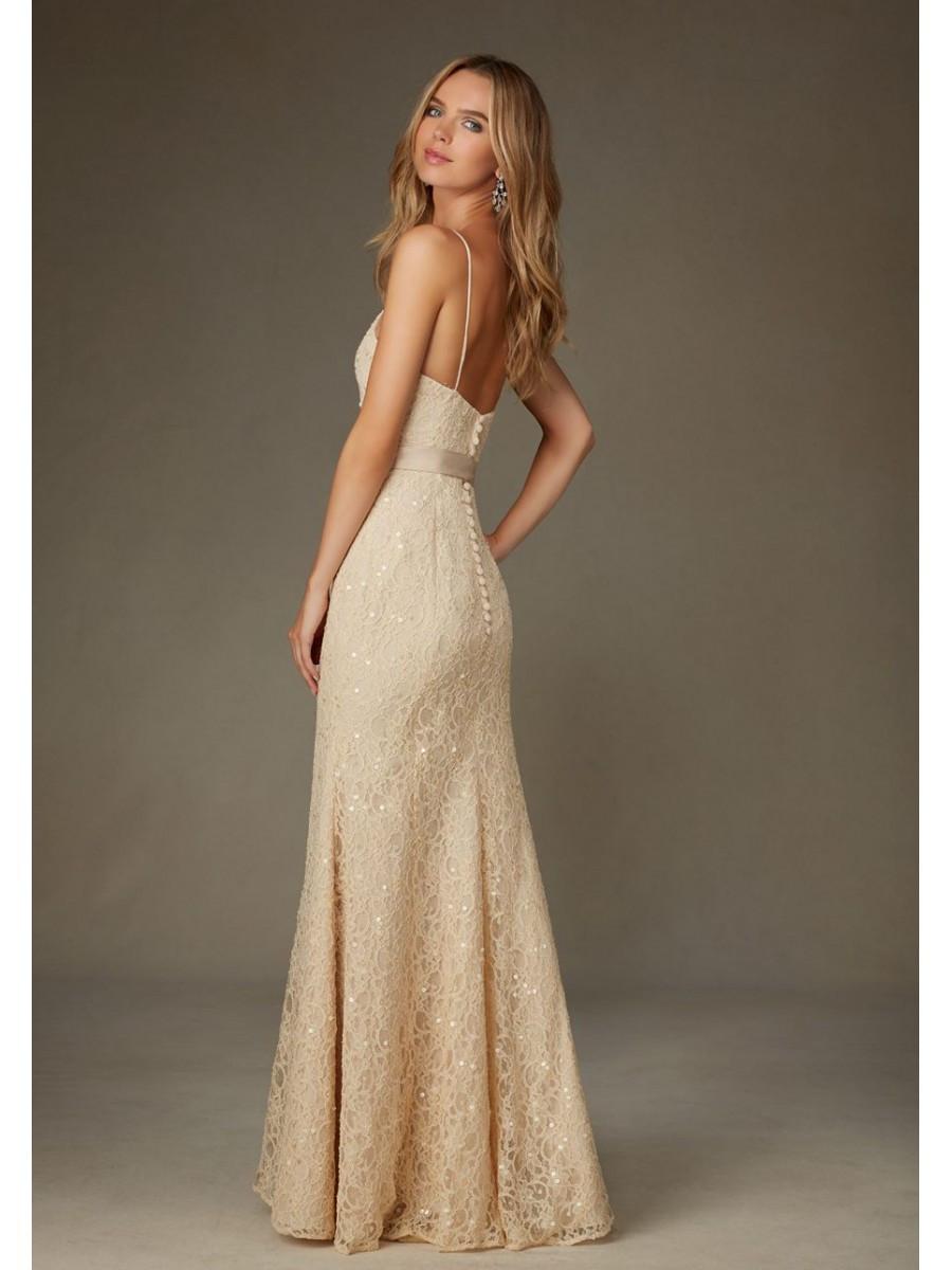 Spaghetti Strap Mermaid Wedding Dress  Elegant Mermaid Spaghetti Straps Lace Long Bridesmaid