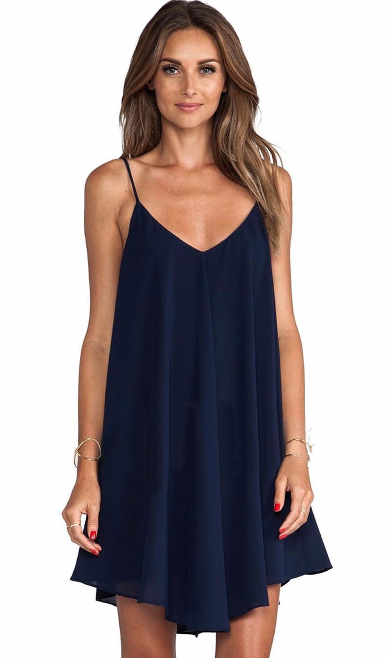 Spaghetti Strap Summer Dress  Vestidos summer dress 2015 sleeveless spaghetti strap