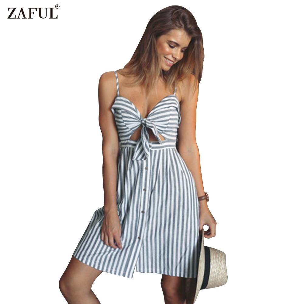 Spaghetti Strap Summer Dress  Aliexpress Buy ZAFUL women summer dresses Cotton and