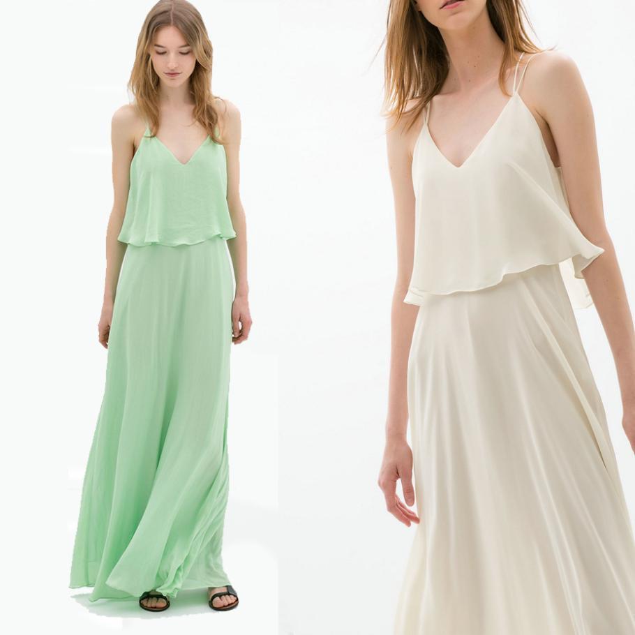 Spaghetti Strap Summer Dresses  2014 New Summer Maxi Spaghetti Strap Dress Mopping Halter