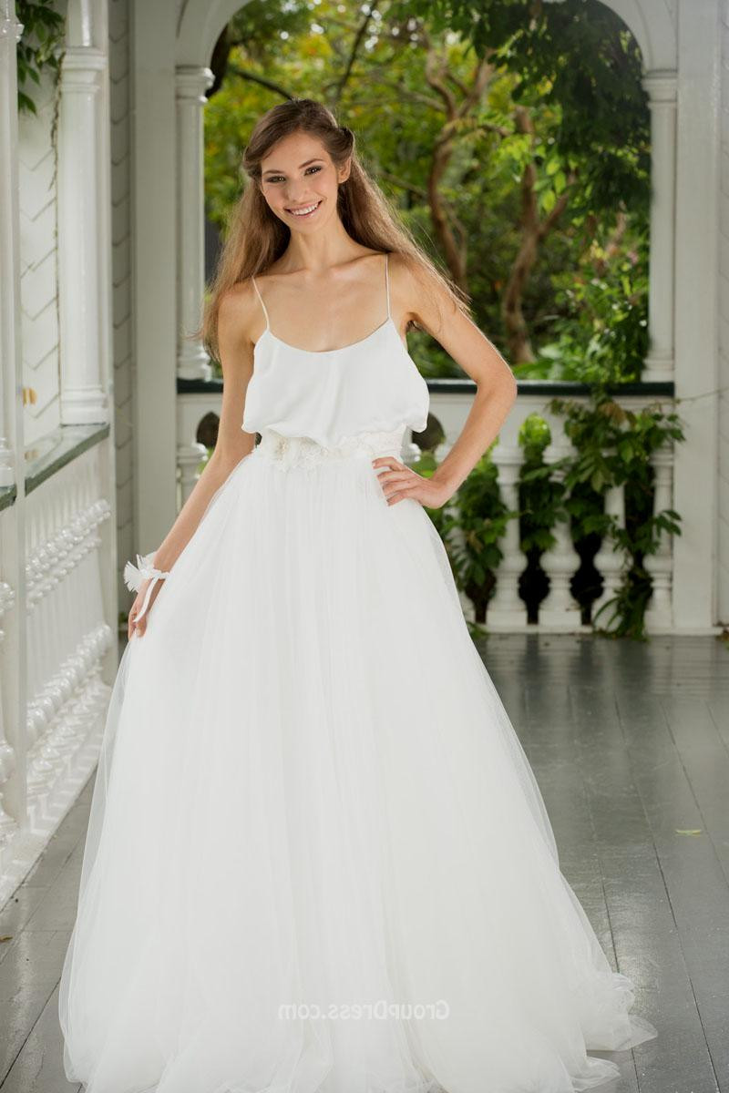 Spaghetti Strap Tulle Wedding Dress  ball gown wedding dresses with spaghetti straps Naf Dresses