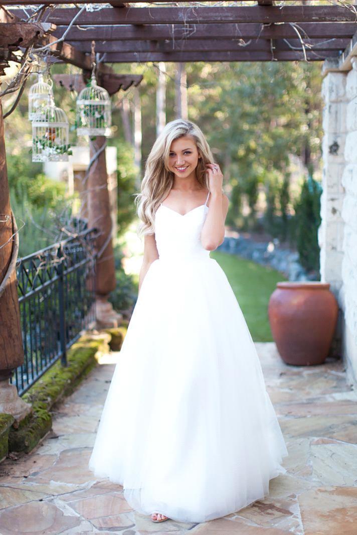 Spaghetti Strap Tulle Wedding Dress  Spaghetti Strap Tulle Summer Wedding Dress New Arrival