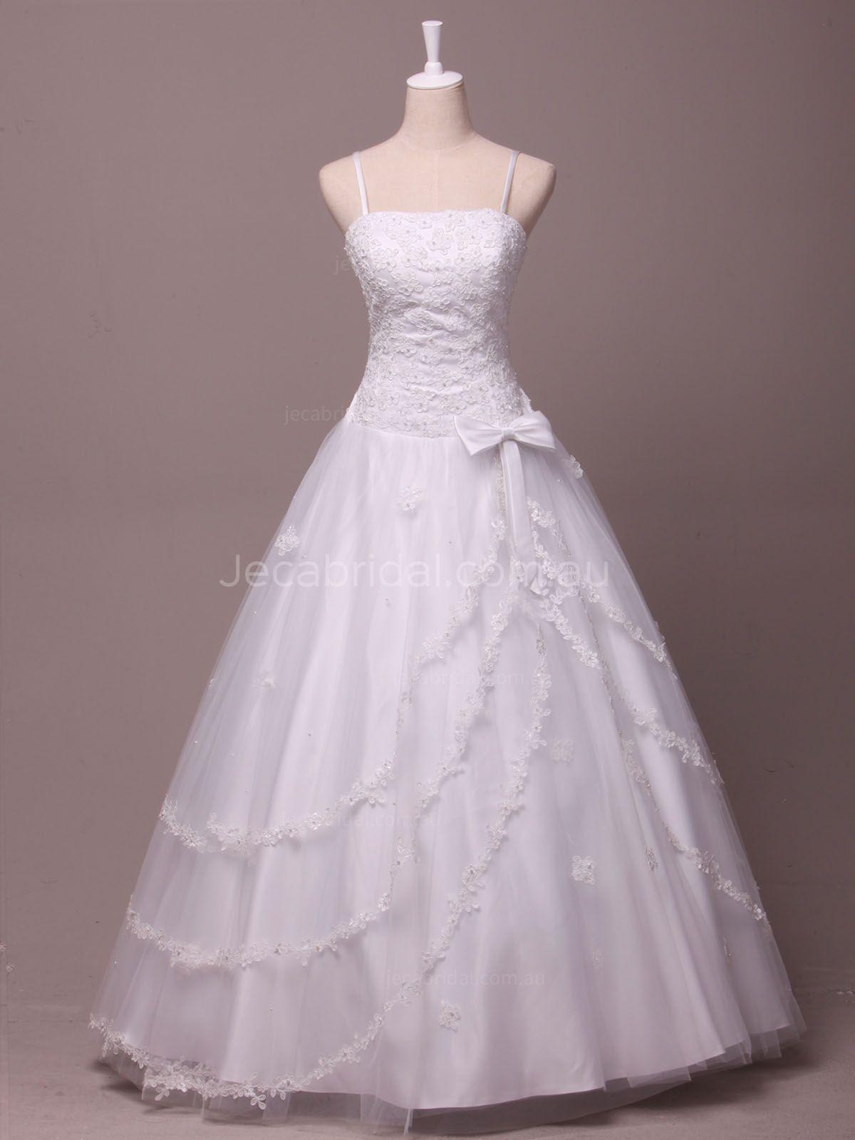 Spaghetti Strap Tulle Wedding Dress  Spaghetti Straps Tulle Wedding Dress Norah