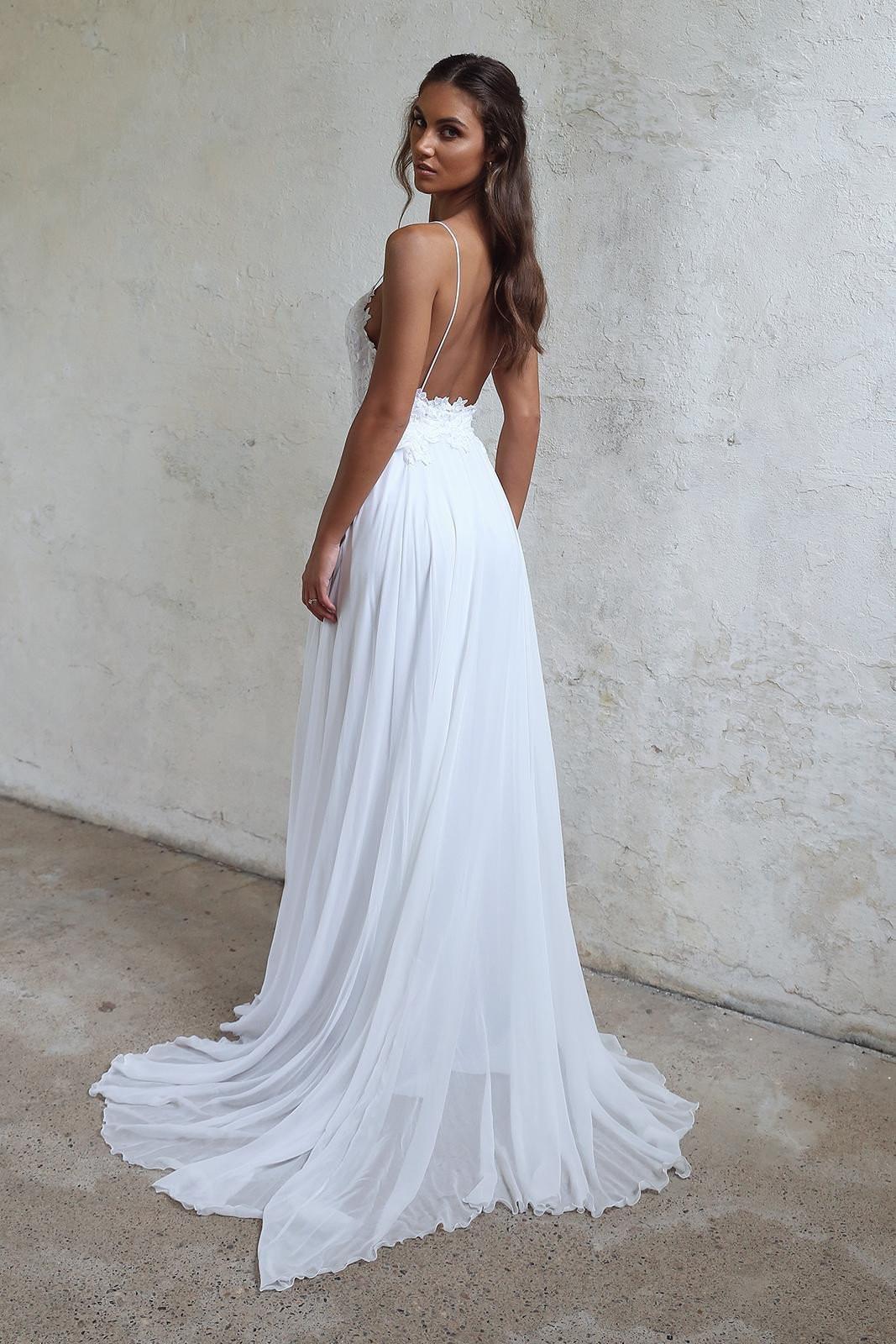 Spaghetti Strap Wedding Dresses  Sale Absorbing Spaghetti Strap Wedding Dresses White