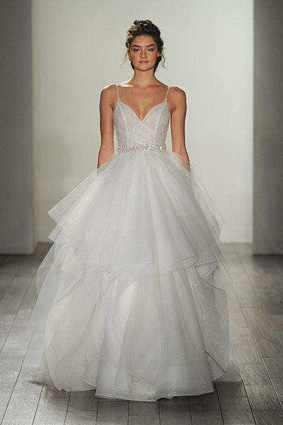 Spaghetti Strap Wedding Dresses  30 Pretty Wedding Gowns With Spaghetti Straps