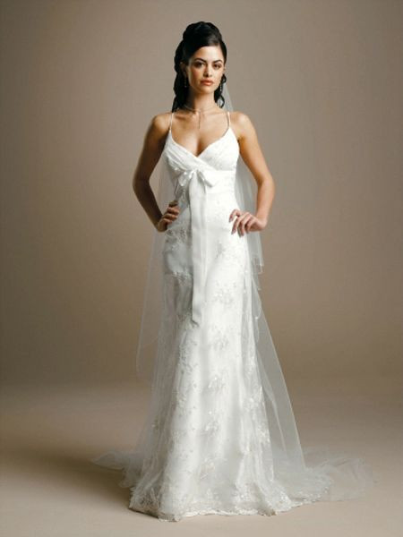Spaghetti Strap Wedding Gown  Terrific Spaghetti Strap Wedding Dressing Ideas