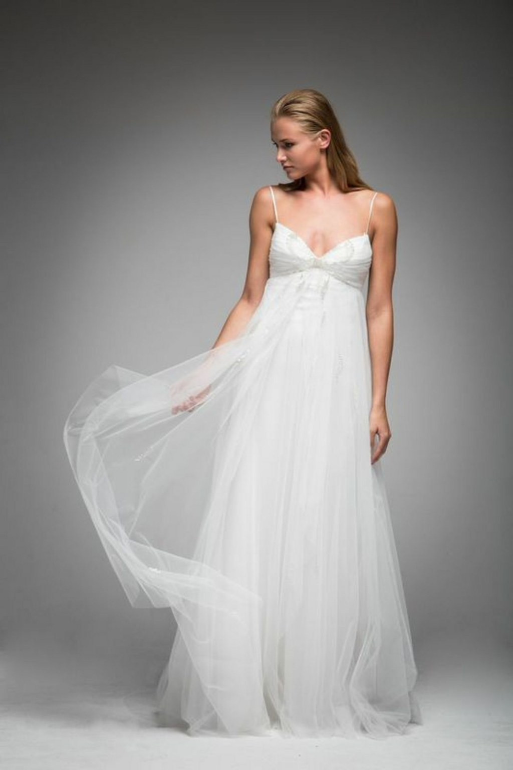 Spaghetti Strap Wedding Gown  Spaghetti Strap Wedding Dresses New Spaghetti Strap