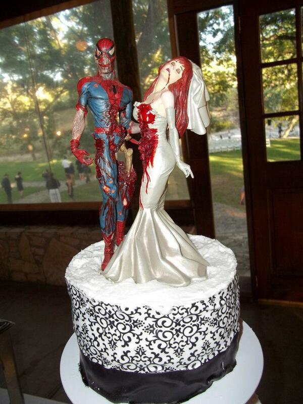 Spiderman Wedding Cakes  Spiderman Wedding Cake Topper blomwedding